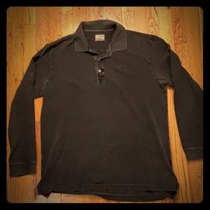 Lacoste Vintage wash polo black size 6